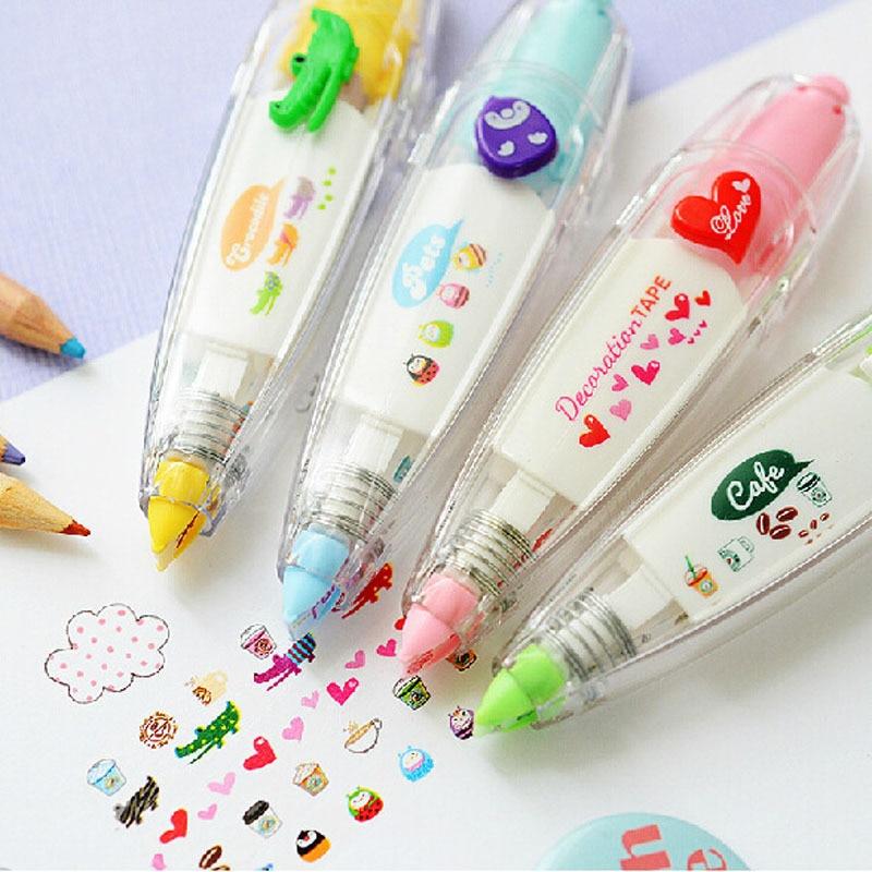South Korea Stationery Creative Push Lace Correction Tape Cute Decoration Tape Characteristics Creative Diary PDA