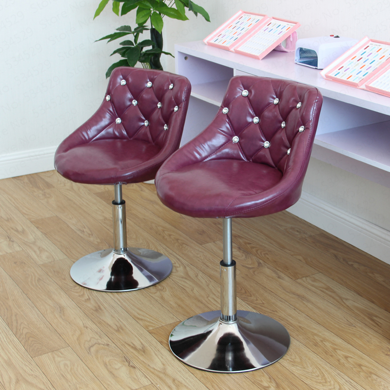 European Bar Stool Chair Lift Swivel Chair Bar Stool Beauty Dressing Backrest Formal Dining Chair Makeup Artist Chair