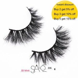 Mink Eyelashes Crisscross Thick Long False Eyelashes 3D Mink Lashes Cruelty Free Handmade Full Strip Lashes Makeup Eye Lash E06