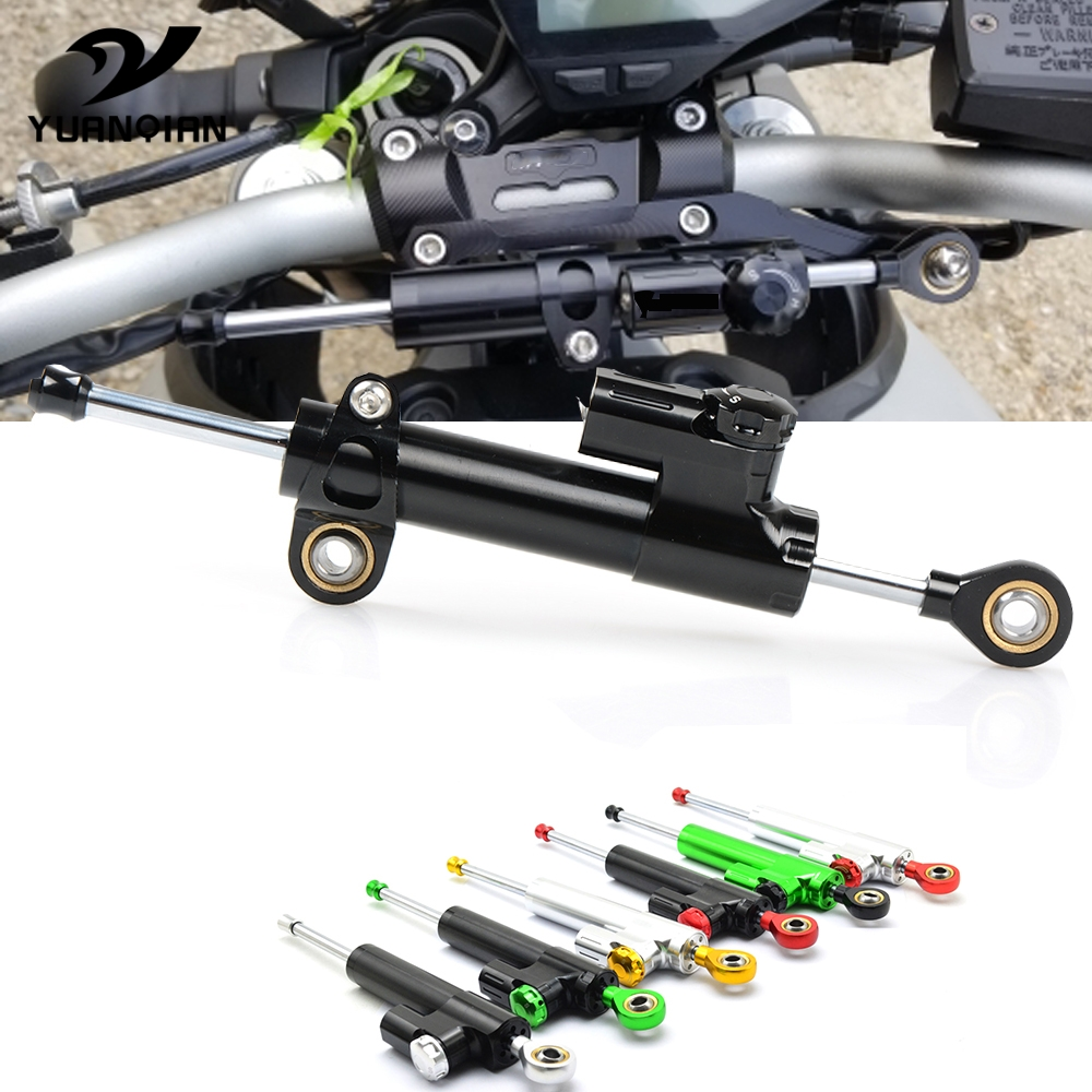 Universal Motorcycle Aluminum Adjustable Steering Damper Stabilizer For <font><b>Yamaha</b></font> <font><b>NMAX</b></font> 125 <font><b>155</b></font> BMW K 1600 GT G 310 GS F750GS C650GT image