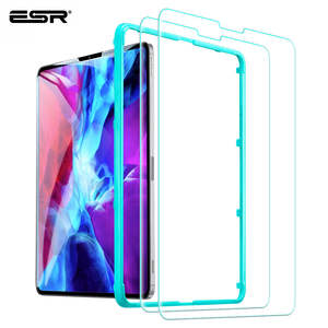 ESR Film-Cover Screen-Protector Tempered-Glass iPad Pro 2PCS for High-Definition HD Ultra