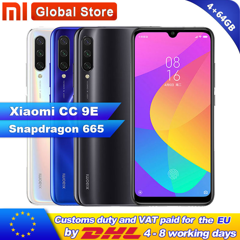 Xiaomi Mi CC9E 4GB 64GB Smartphone Snapdragon 665 Octa Core 4030mAh Rear Three Shots 48+32MP Camera AMOLED Screen MIUI 10