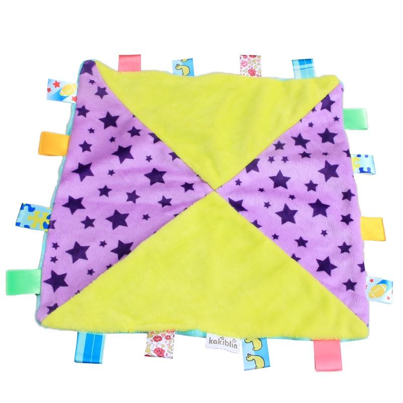 Children Soft Square Doll Plush Toys Appease Blanket Appease Towel Baby Calm Wipes Infant Kids Infant Towel Blanket