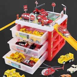Детская городская парковка Игрушечный трек автомобиль Многоэтажный гараж детские игрушки коробка для хранения Чехол для мальчиков новые п...