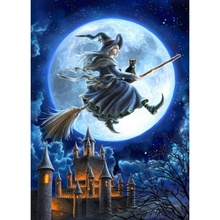 Household Decoration Halloween Paintings Theme DIY Childrens Gift Funny Full Diamond Covered Z