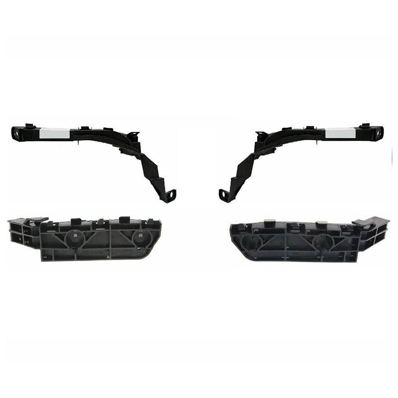 4 Pieces Efront Headlights And Bumper Brackets Set For 2007-2011 Honda Crv