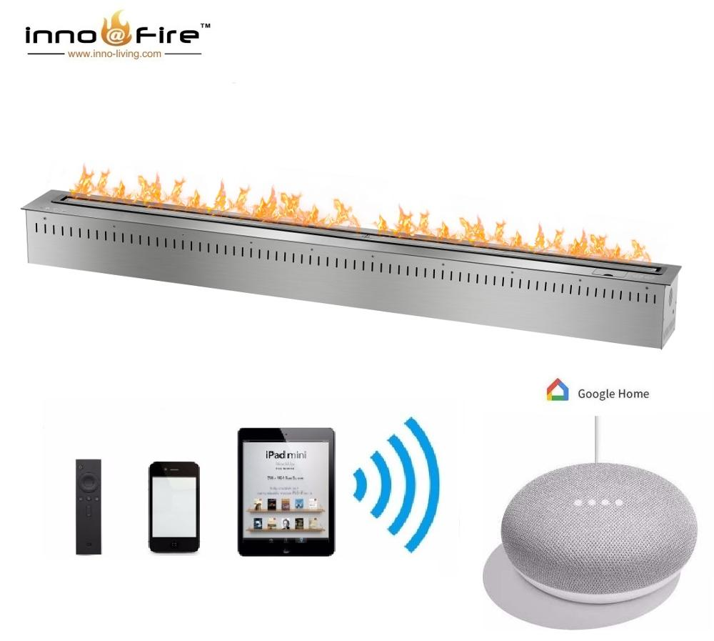 Inno Living Fire 72 Inch Indoor Bio Fireplace Automatic With Voice Control
