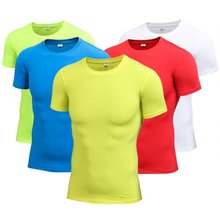 Men Quick-Dry Breathable T-Shirt Short Sleeve sport Fitness Quick Dry For waterproof Gym sports running t shirt