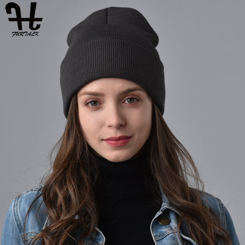 FURTALK Spring Beanie Hat For Women Watch Bonnet Cap Men Knit Beanie Hat Skullies Cap Winter Autumn Hats For Female