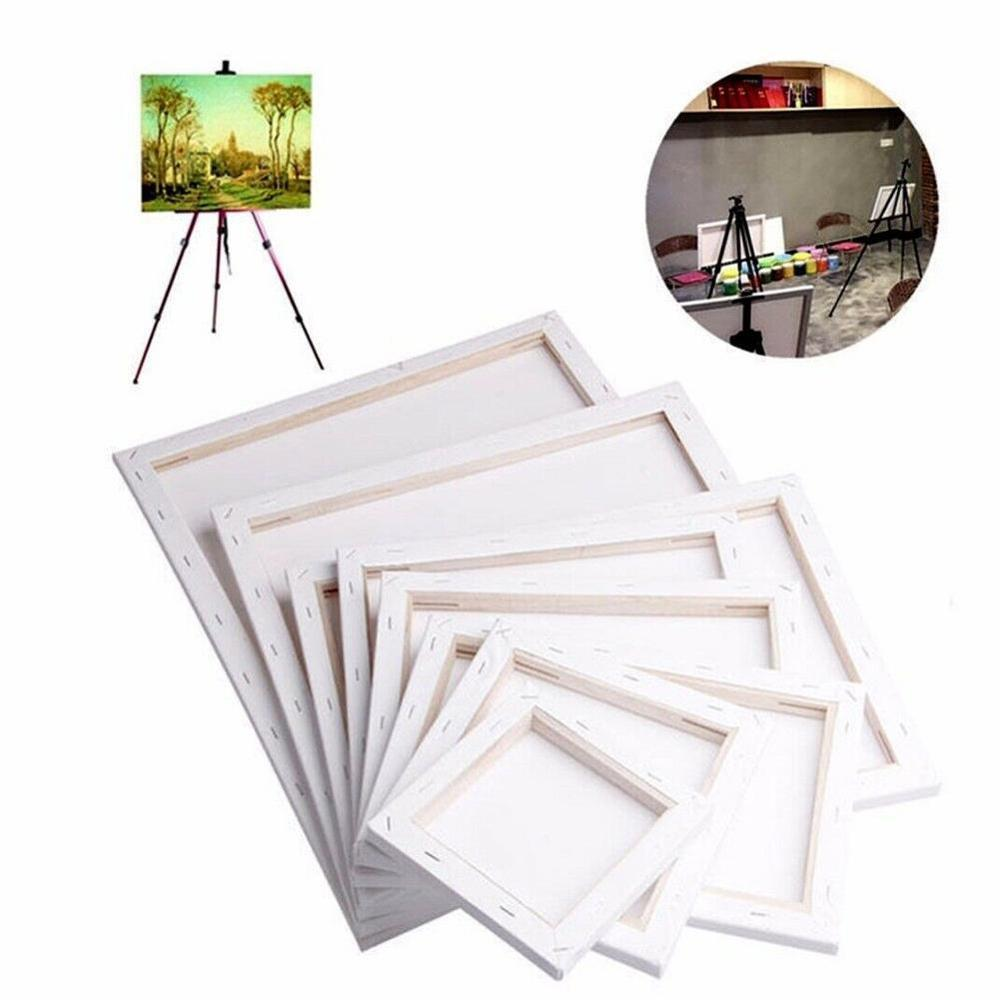 NEW White Blank Square Artist Canvas For Canvas Oil Painting,Wooden Board Frame For Primed Oil Acrylic Paint