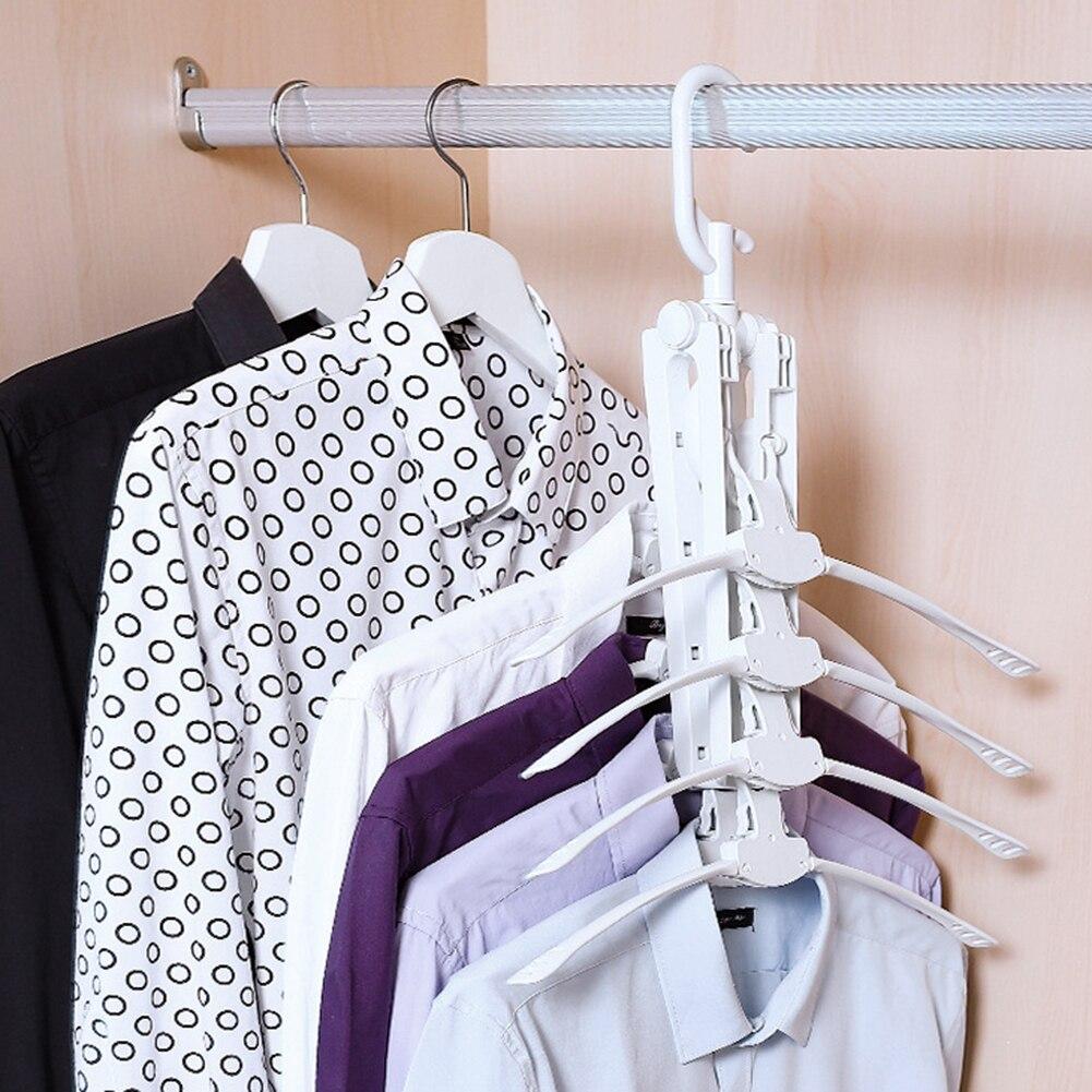 Multifunctional Foldable Clothes Magic Hanger Storage Household Multi-layer Clothing T-Shirt Drying Rack Hangers Organizer