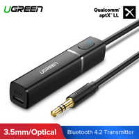 Ugreen Bluetooth Transmitter 4.2 TV Headphone PC APTX 3.5mm Aux SPDIF 3.5 Jack Adapter Optical Audio Music Bluetooth Transmitter