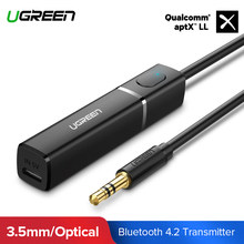 Ugreen Bluetooth Zender 4.2 TV Hoofdtelefoon PC APTX 3.5mm Aux SPDIF 3.5 Jack Adapter Optische Audio Muziek Bluetooth Zender(China)