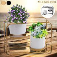 Hanging Wall Planter Iron Frame And Pot Wall Mounted Container Freestanding Planter Pot For Air Plants Succulent Plants