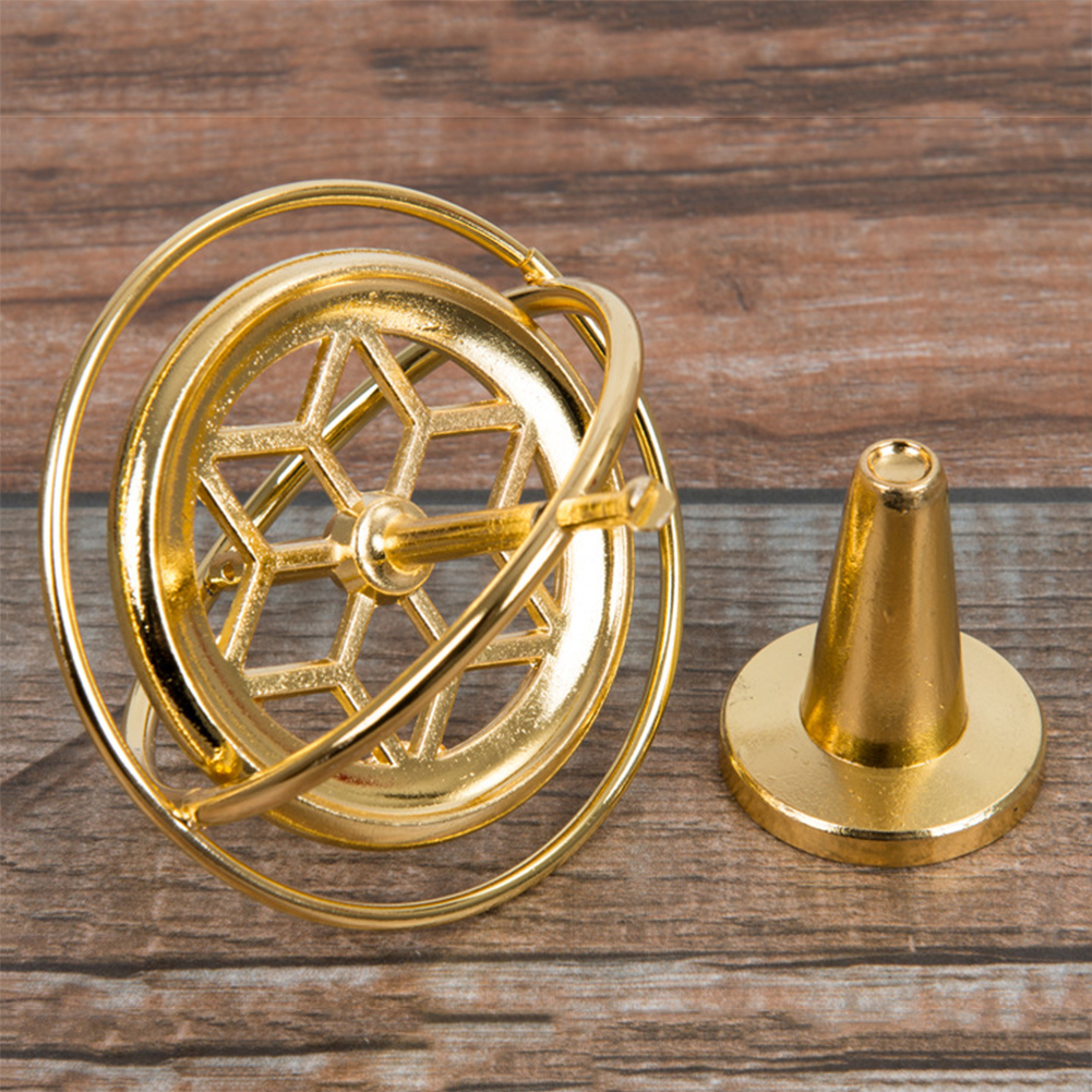 Metal Classic Gyroscope Gyro Pressure Relieve Speed Balance Educational Toy