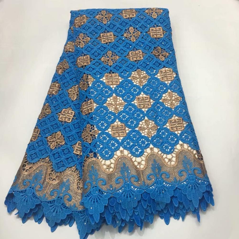 Nueva tela de encaje de guipur africano 2019 de alta calidad, gasa Suiza nigeriana en Suiza, tela de encaje de algodón para boda A1436-in encaje from Hogar y Mascotas    3