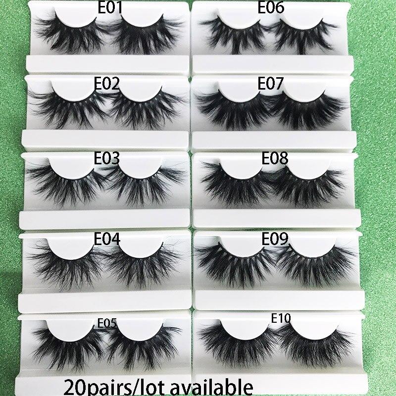 Mikiwi 25mm  3D Mink Lashes 20 Pairs  Extra Length Fluffy Mink Eyelashes Big Dramatic Volumn Eyelashes Strip Thick False Eyelash