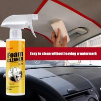 Limpiador de espuma para coche, agente de limpieza Interior de salpicadero de techo, cuero, tela tejida de franela de plástico, agente de limpieza en profundidad sin agua