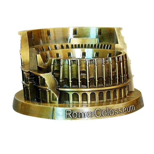 ERMAKOVA Metal World Famous Building Architecture Model Statue Landmark Tourist Souvenir Home Office Decoration 4