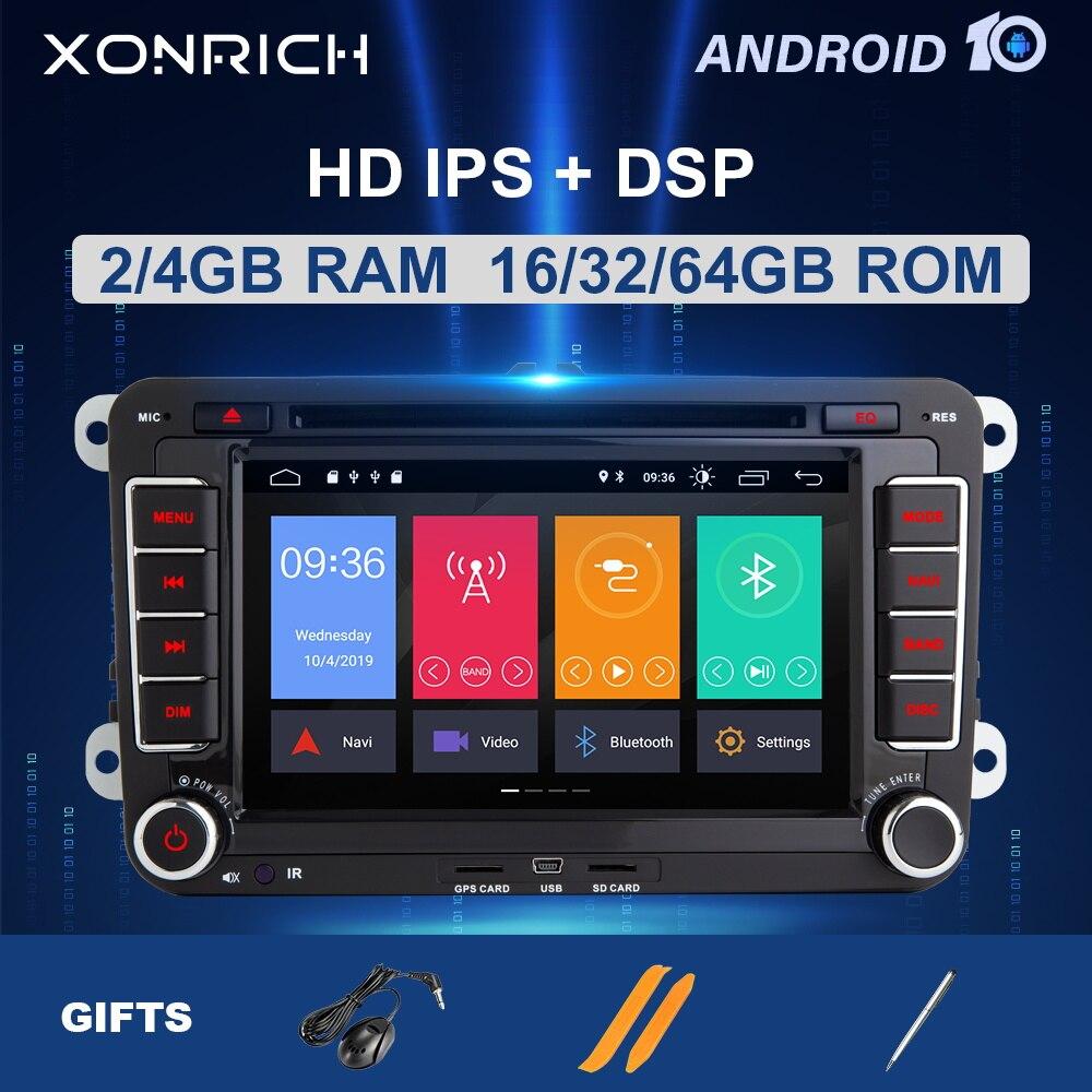 2 din Android 10 Auto Multimedia Auto Radio GPS Für Amarok Volkswagen VW Passat b6 Polo Skoda Octavia 2 Tiguan golf 5 6 seat leon