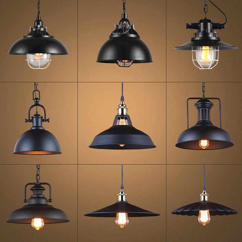 Công Nghiệp Retro Phong Cách Nhà Hàng Bếp Nhà Đèn Mặt Dây Chuyền Ánh Sáng Đèn Trang Trí Vintage Treo Đèn Chụp Đèn Cho Ăn