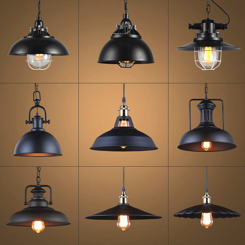 Industrial Retro Style Restaurant Kitchen Home Lamp Pendant Light Decorative Lamps Vintage Hanging Light Lampshade For Dining