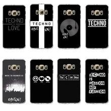 Love is techno Мягкие силиконовые прозрачные чехлы для телефонов samsung s6 edge plus s7 edge s8 s9 s10 plus lite e note9 чехол