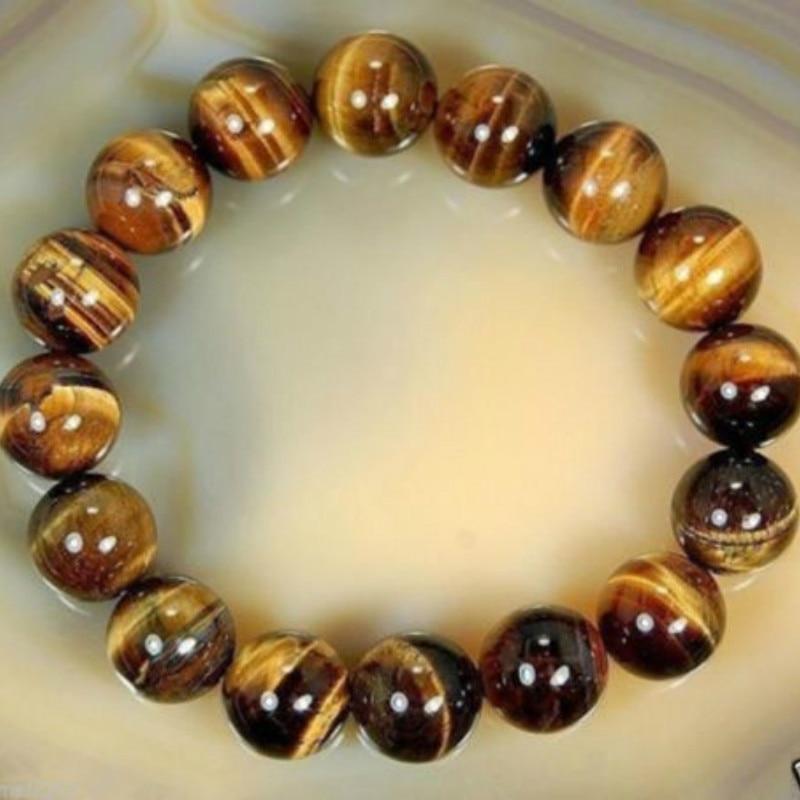 Natural Stone Beads Buddha Bracelet Brown Tiger Eyes Beads