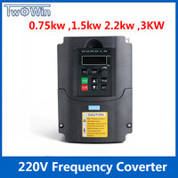 0.75 kw,1.5kw ,2.2kw, 3kw 220v AC Frequency Inverter single phase input 3 phase output ac drives /frequency converter