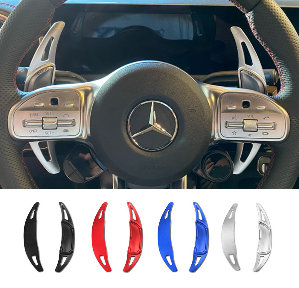 Al alloy Wheel Shifter Paddle Extension For Benz AMG GLA45 SL63 A45 C63 E63 S65