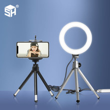16cm Stepless Dimmable LED Makeup Selfie Ring Light for Youtube Video Camera Continuous Lighting Photo Studio Live Beauty Light dimmable diva 12 60w led studio ring light beauty make up selfie video photo