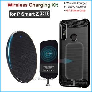 Qi Беспроводная зарядка для huawei P Smart Z 2019 Qi Беспроводное зарядное устройство + usb type C приемник Nillkin разъем адаптера подарок ТПУ чехол