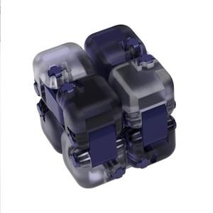 Image 5 - 새로운 샤오미 Mijia Mitu Spinner 다채로운 빌딩 블록 Finger Fidget 감압 장난감 퍼즐 조립 큐브 핑거 스피너 장난감