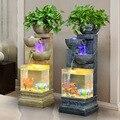 الأوروبية نمط نافورة الماء الإبداعية غرفة المعيشة المنزلي الجنينة الانحلال الترطيب الأسماك خزان المنزل زينة