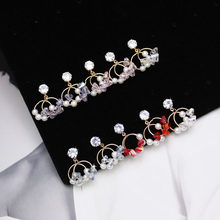 Shiny Side New Fashion Brand Jewelry Korean Pearl Stud Earrings for Women Simple Style Pendant Crystal Earrings(China)