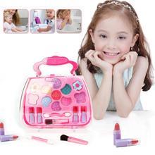 Księżniczka dziewczyny symulacja opatrunek kosmetyki zestaw zabawek makijaż zabawki kosmetyki występy imprezowe opatrunek kosmetyki zestaw zabawek TSLM1 tanie tanio ELECOOL Non-Toxic 1 set YQ88612 15*6 5*16cm color box 100g plastic