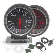 2,5 дюймов Автомобильный турбонаддув датчик давления масла Температура воды Температура масла Тахометр RPM датчик с пиПредупреждение лом и светодиодный подсветкой