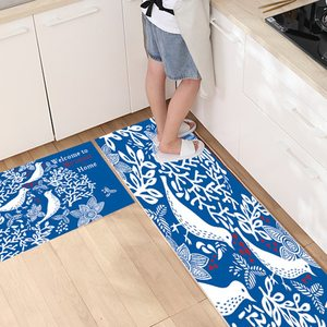 2pcs Kitchen Mats Absorb Water Oil Anti-skid Oil-proof And Waterproof Rug Long Carpet For Kitchen Living Room Home Decorative