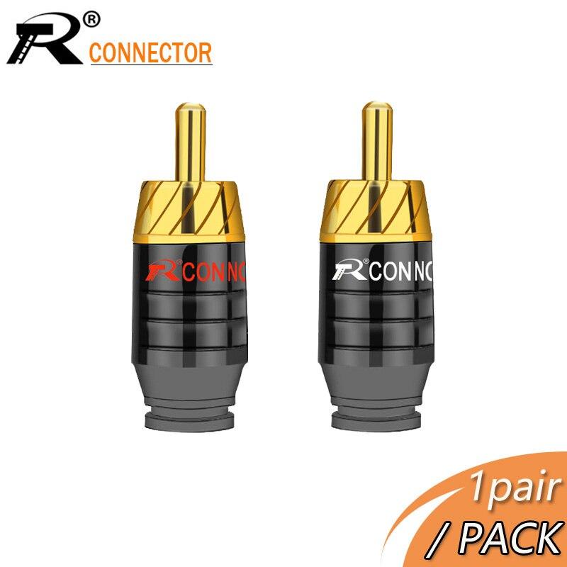 Позолоченный разъем для наушников, 2 шт./1 пара, разъем RCA, разъем для колонок, аудиовыход/вход, переходник