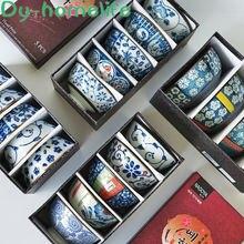 45 дюймовая керамическая миска в японском стиле сине белая фарфоровая