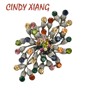 CINDY XIANG new arrival rhinestone large flower brooches for women vintage fashion brooch pin high quality party jewelry gift cindy xiang 4 colors avaibale crystal flower brooches for women wedding pin pendant brooch spring new arrival high quality gift