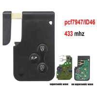 Jingyuqin 3 przycisk 433Mhz ID46 PCF7947 Chip i wkładka mały grot zdalny inteligentny karta klucz do Renault Megane Scenic Grand