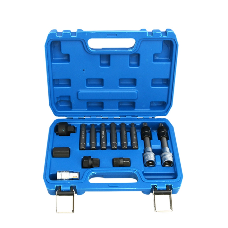 13Pcs Alternator Decoupler Pulley Service Tool Sets for Mercedes Benz BMW Bosch|Bicycle Repair Tools| |  - title=