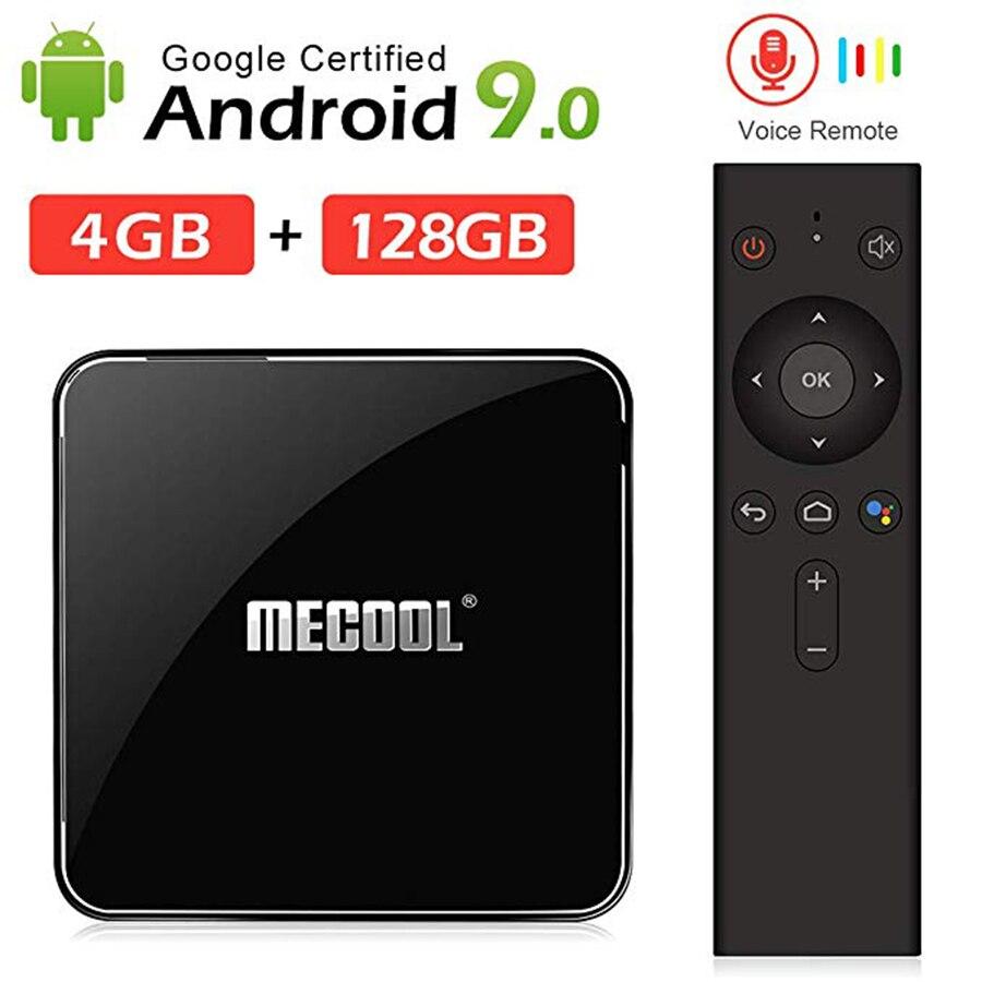 Boîtier TV intelligent Mecool KM3 avec télécommande vocale certifié Google Amlogic S905X2 lecteur multimédia double Wifi BT4.0 IPTV décodeur-in Décodeurs TV from Electronique    1
