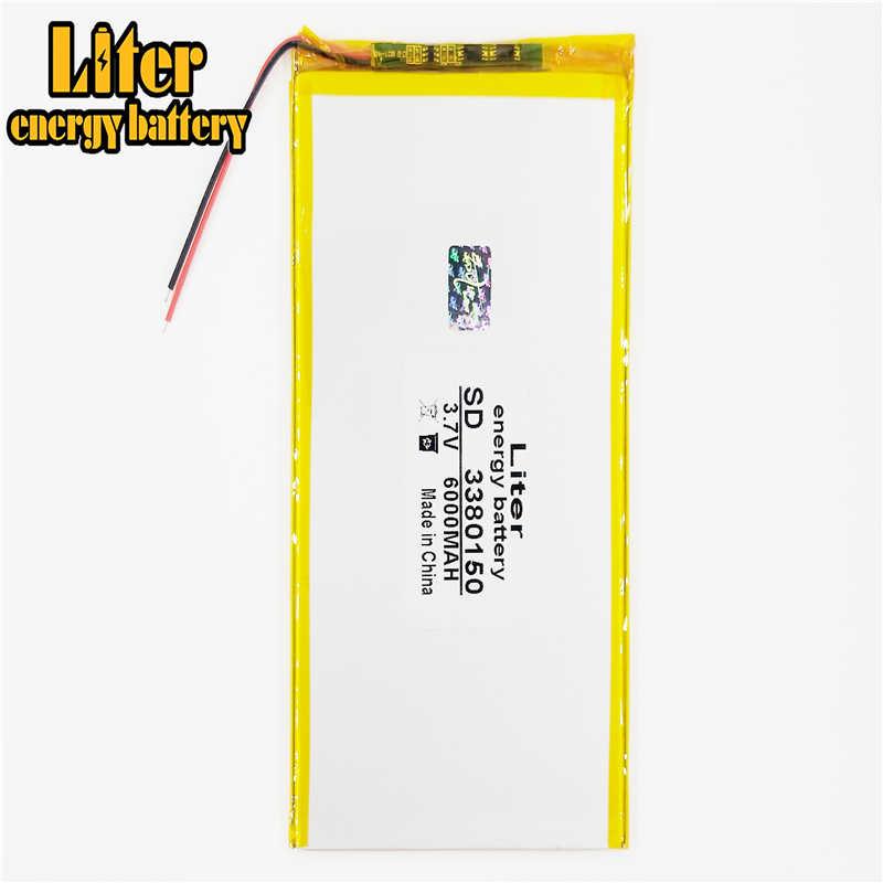 3380150 3.7 v 6000 mahリチウムイオン電池のタブレットコンピュータ 8 インチ 9 インチ 10 インチ