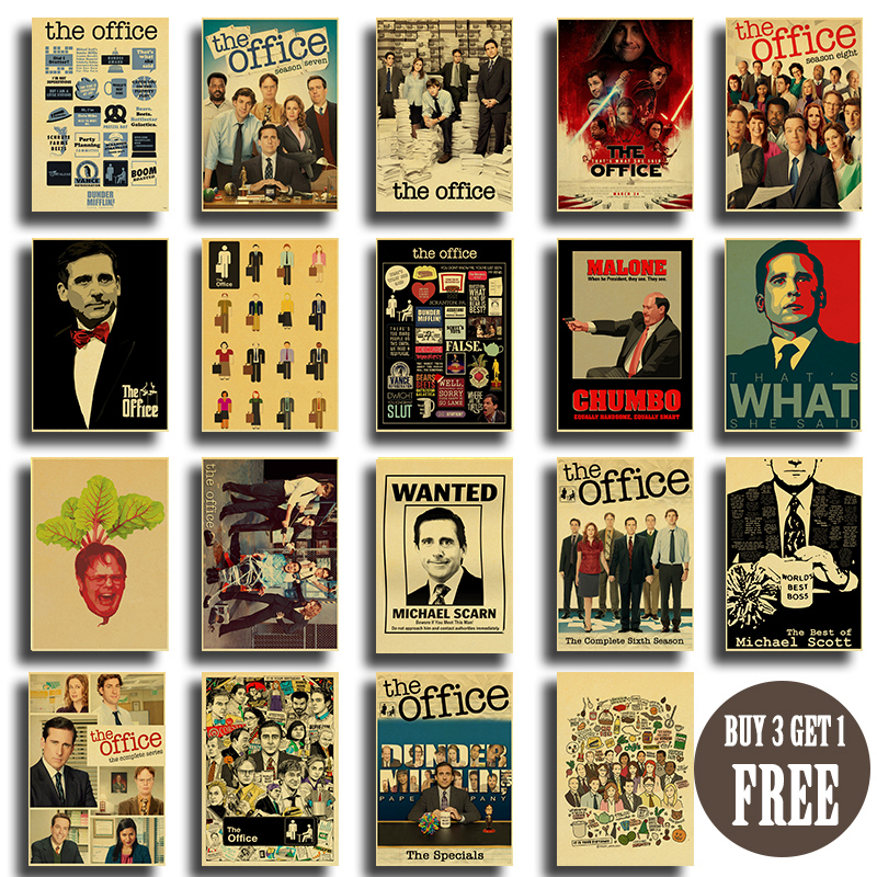 Friends OFFICE TV SHOW Vinatge Posters Retro Art Wall Painting Good Quality Kraft Paper Prints Room Wall Picture
