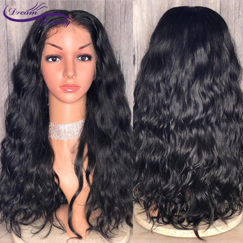 130% 150% 180% Lace Front Human Hair Wigs Pre Plucked 13X4 Remy Brazilian Wavy Lace Frontal Wigs With Baby Hair Dream Beauty