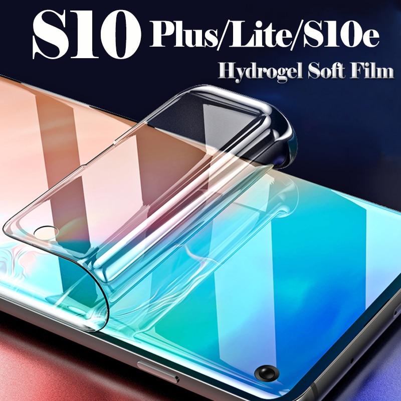 Полное покрытие из мягкого стекла для samsung Galaxy s10e протектор экрана на Samsun Galxy Защитная S 10 e S10 Plus Lite легкая пленка tpu (термополиуретановая плен...