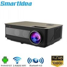 Новейший светодиодный 86plus 1280x800 HD проектор 5000 люменов Android 6.0.1 Дополнительный Bluetooth AC3 светодиодный 3D проектор для домашнего кинотеатра