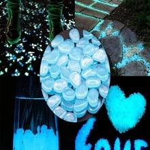 25/50 шт. садовые камни, светящиеся камни, светится в темноте домашние декоративные камни для гальки, уличный декор для аквариума, светящиеся к...